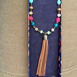 Lucky Brand semi-precious bead necklace with tased
